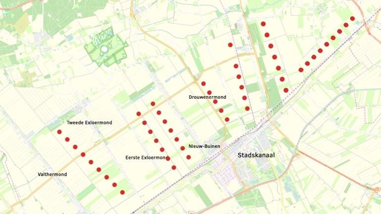 kaart plan plaatsing windmolens